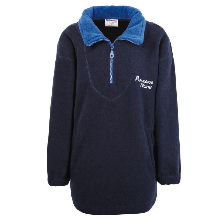 Schooltex Papatoetoe North Polar Fleece Top with Embroidery, Navy/Royal, hi-res