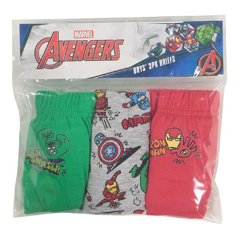 Avengers Boys' Briefs 3 Pack, Green Dark, hi-res