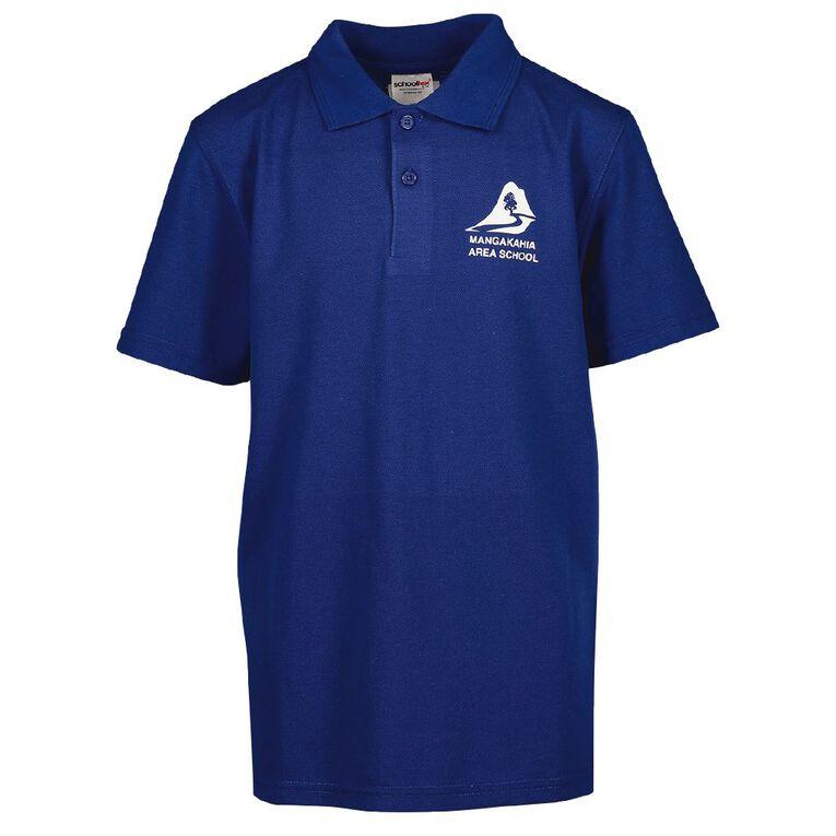 Schooltex Mangakahia Area School Short Sleeve Polo with Transfer, Royal, hi-res