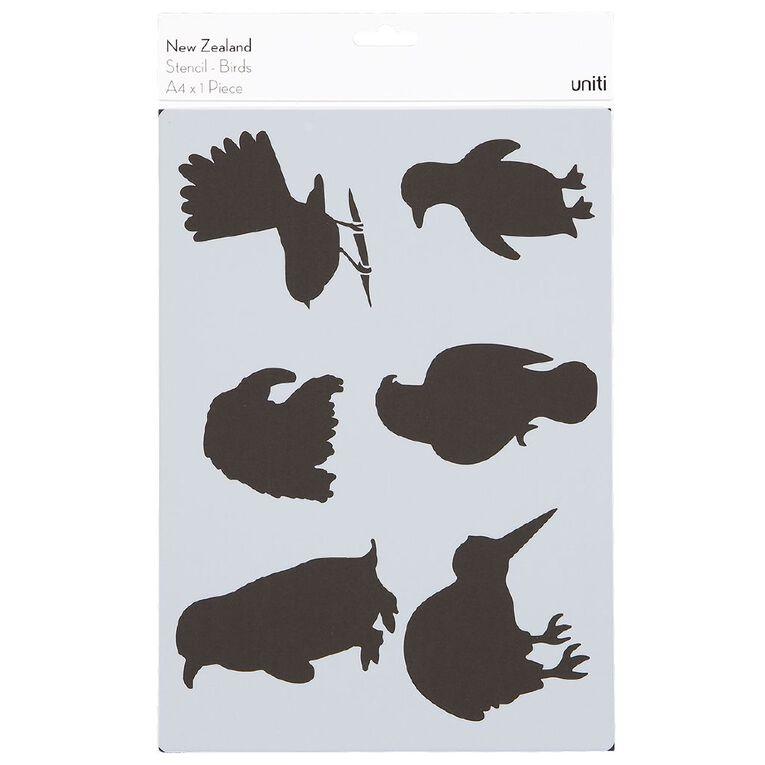 Uniti New Zealand Stencil A4 Birds, , hi-res