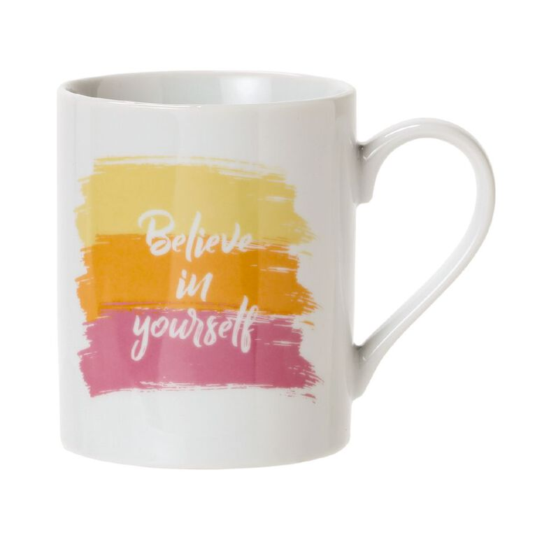 Living & Co Believe in Yourself Mug Multi-Coloured, , hi-res
