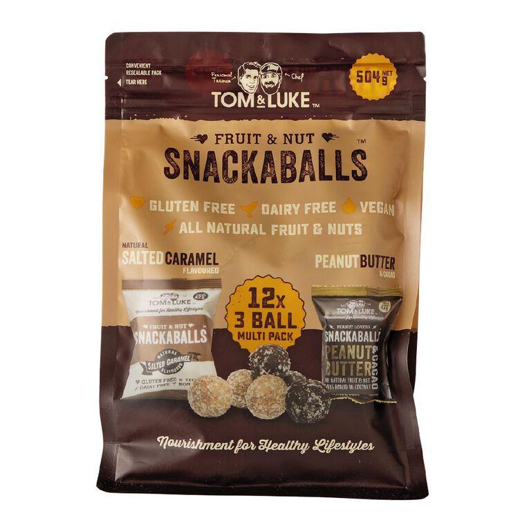 Tom and Luke Snackaballs Peaunut Cacao/Salted Caramel 504g, , hi-res