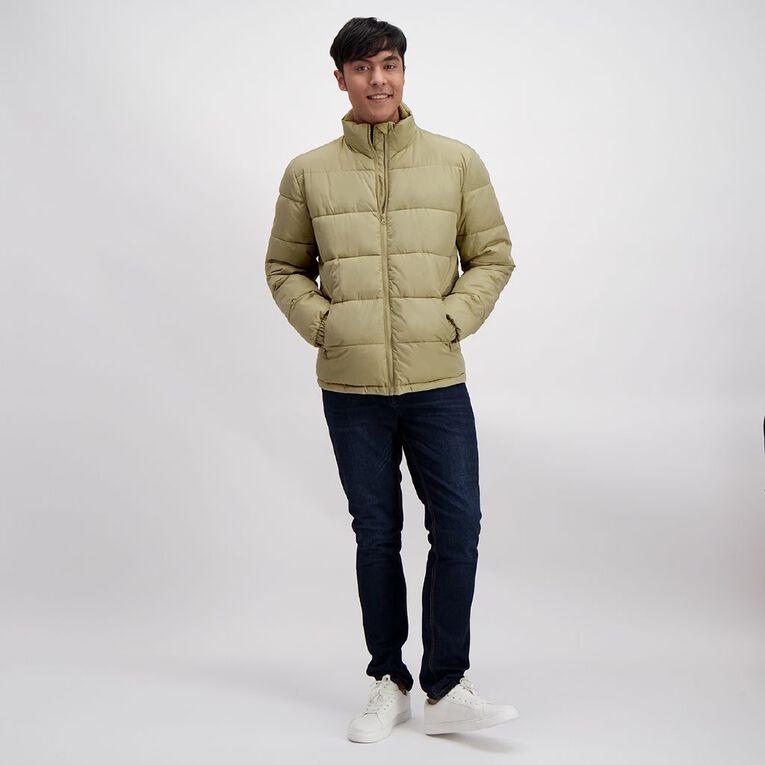 Garage Men's Track Puffer Jacket, Tan, hi-res