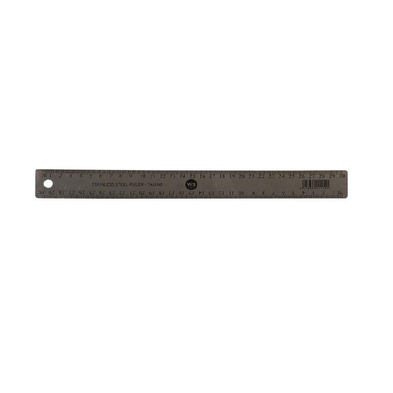WS Ruler Metal 30cm, , hi-res