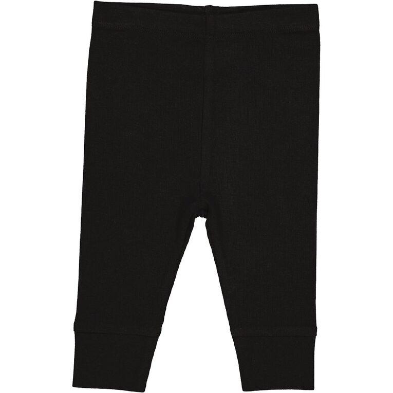 Young Original Infants' Plain Pants, Black, hi-res