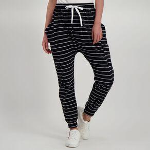 H&H Women's Stripe Harem Pants