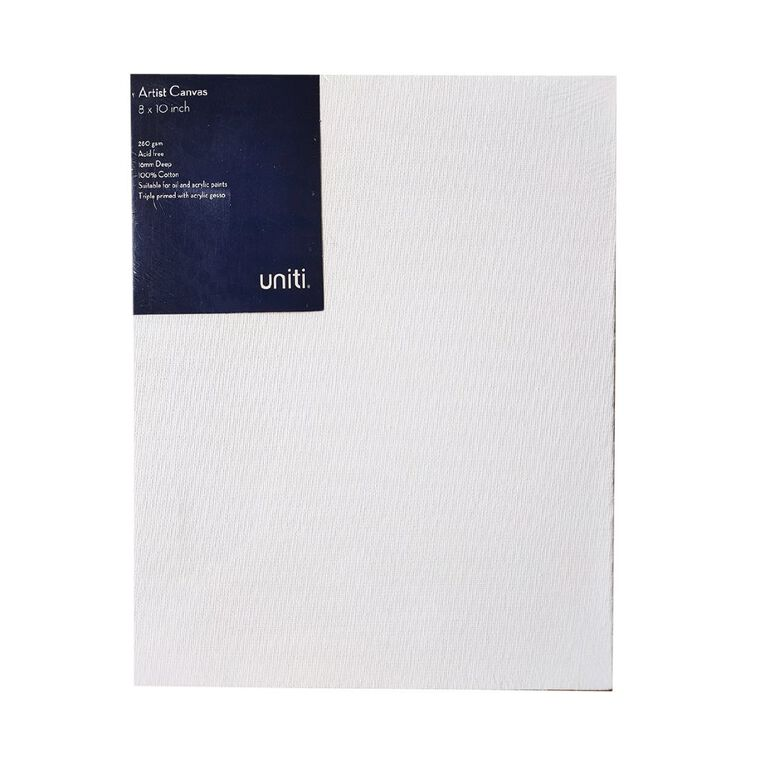 Uniti Blank Canvas 280gsm (8in x 10in) 20cm x 25cm, , hi-res
