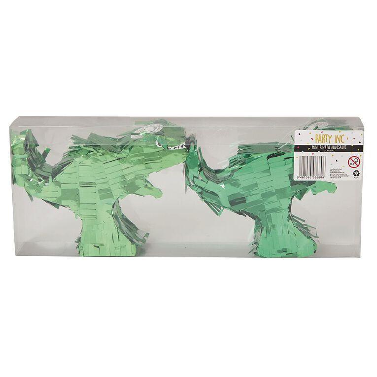 Party Inc Mini Pinata Dinosaur 15cm x 11cm x 4.5cm Green, , hi-res
