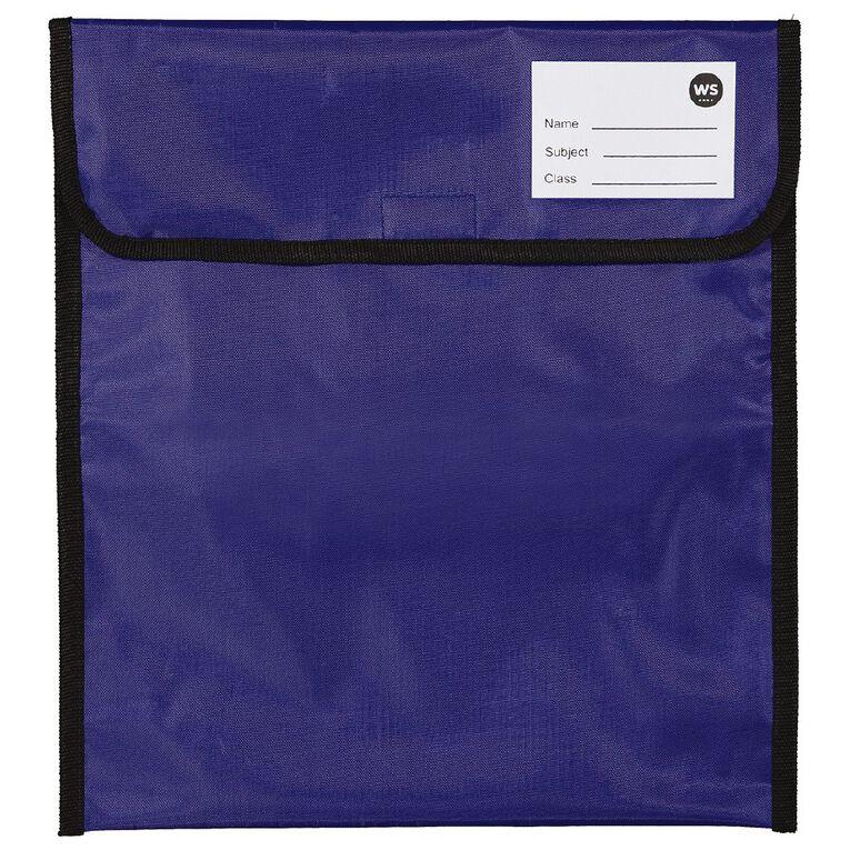 WS Book Bag Zipper Pocket 36cm x 33cm Blue, , hi-res
