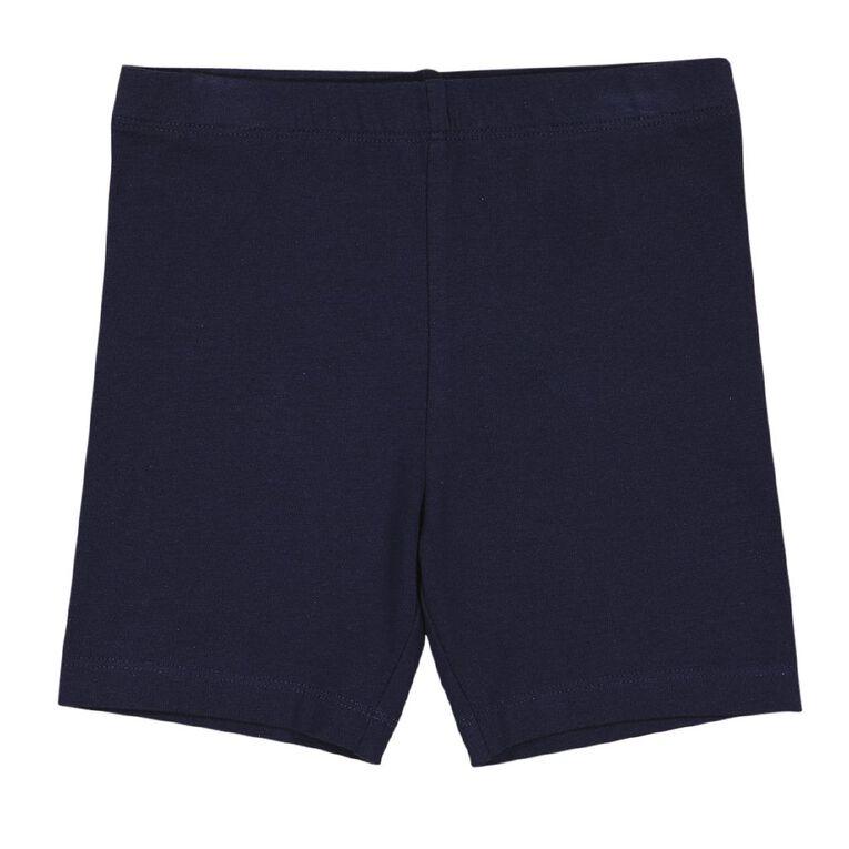 Young Original Girls' Plain Bike Shorts 2 Pack, Blue Dark, hi-res