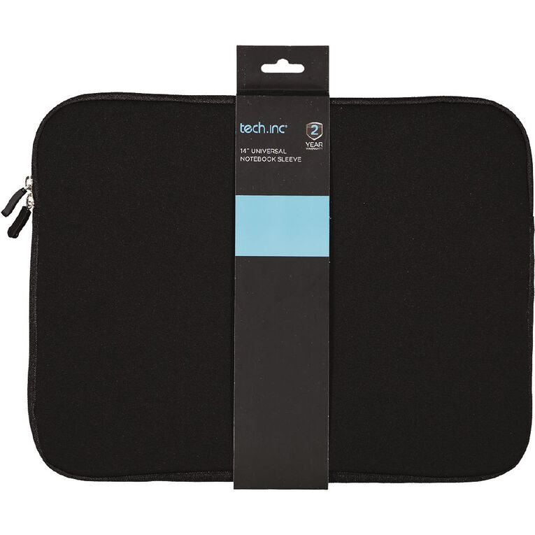 Tech.Inc 14.1 inch Notebook Sleeve Black, , hi-res