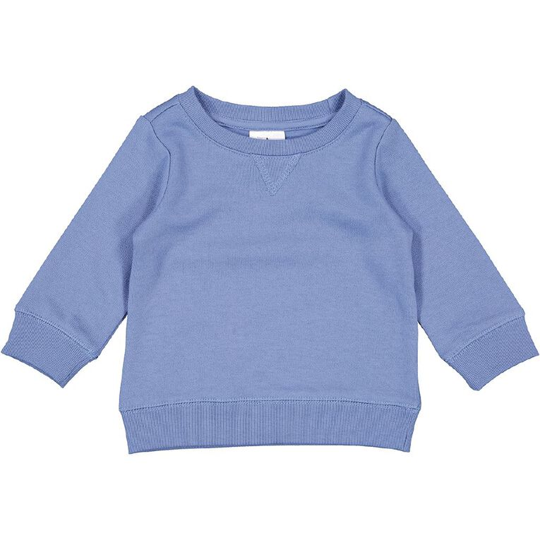 Young Original Baby Plain Sweatshirt, Blue Mid ISLE BLUE, hi-res