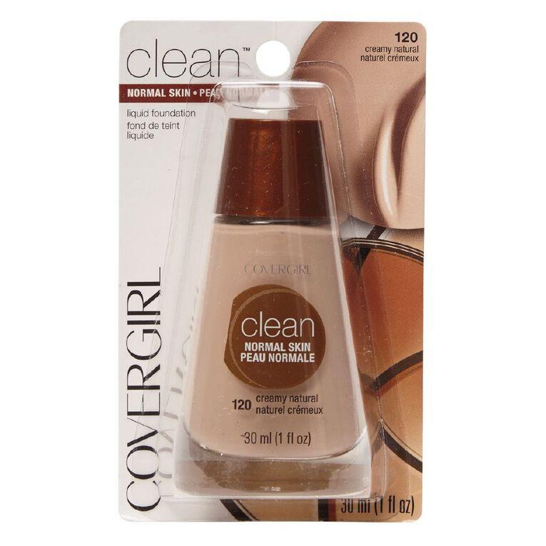 Covergirl Clean Liquid Makeup Creamy Natural 120 30ml, , hi-res