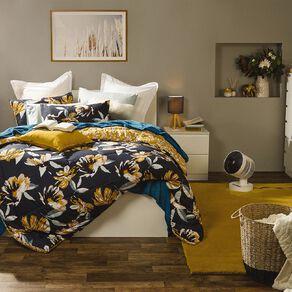 Living & Co Comforter Set 3 Piece Courtney Black Queen