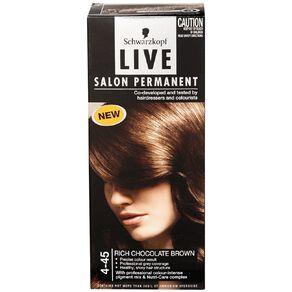 Schwarzkopf Live Salon Permanent 4-45 Rich Chocolate