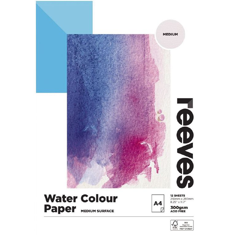 Reeves Water Colour Pad A4, , hi-res