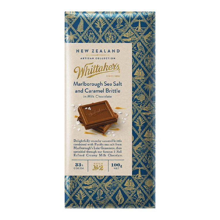 Whittaker's Marlborough Sea Salt and Caramel Brittle 100g, , hi-res
