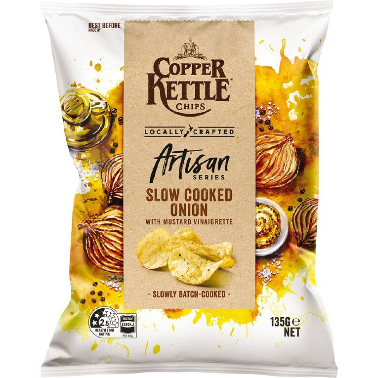 Copper Kettle Artisan Slow Roasted Onion with Mustard Vinaigrette 135g, , hi-res