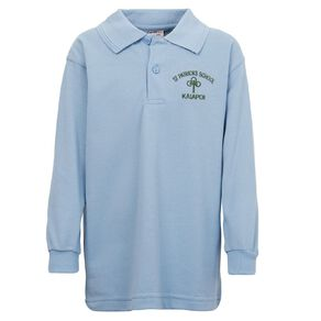 Schooltex St Patrick's Kaiapoi Long Sleeve Polo with Embroidery