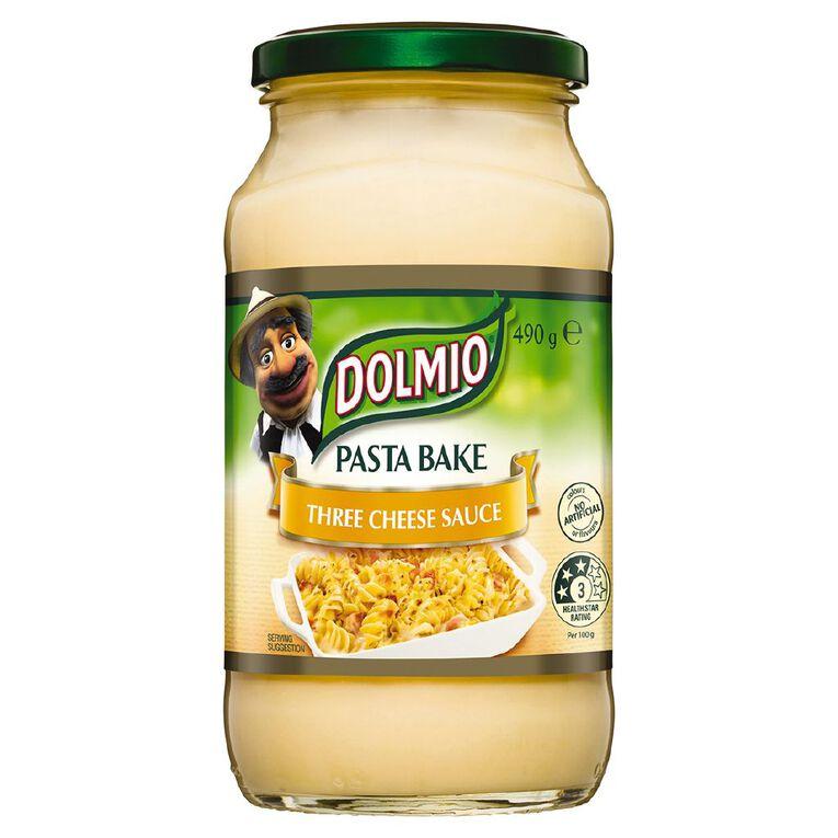 Dolmio Pasta Bake Pasta Sauce Three Cheese Jar 490g, , hi-res