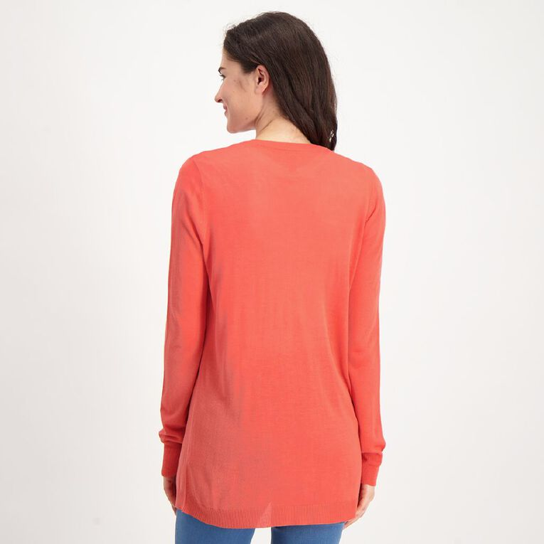 H&H Light Cardigan, Coral, hi-res image number null