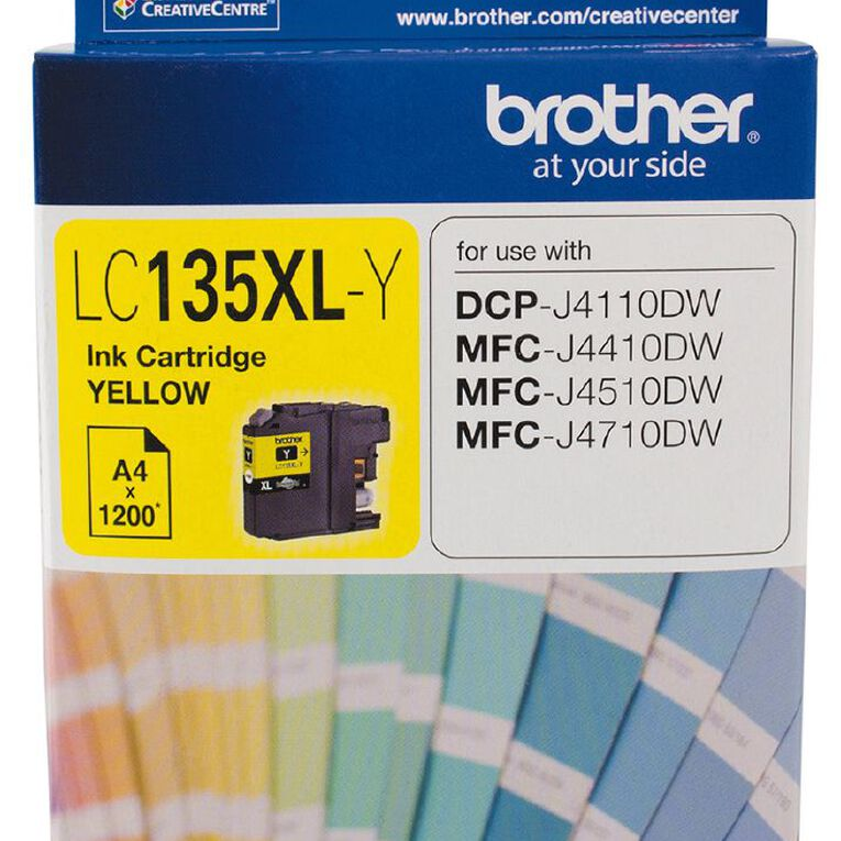 Brother Ink LC135XL Yellow (1200 Pages), , hi-res