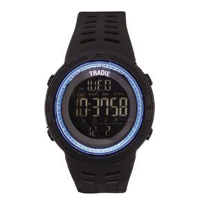 Tradie Digital Black 5ATM Water Resist Alarm Stopwatch Backlight