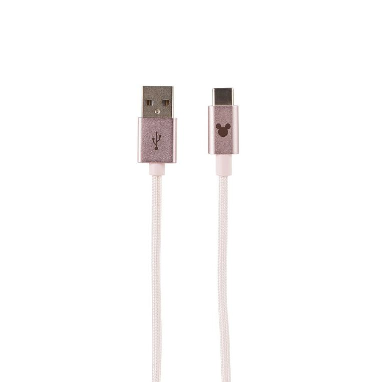 Mickey Mouse USB-C Cable 1m Pink, , hi-res image number null
