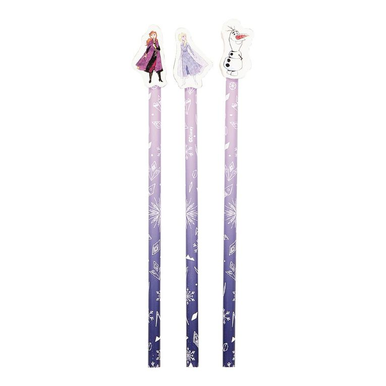 Frozen Disney Pencils With Toppers 3 Pack Purple, , hi-res