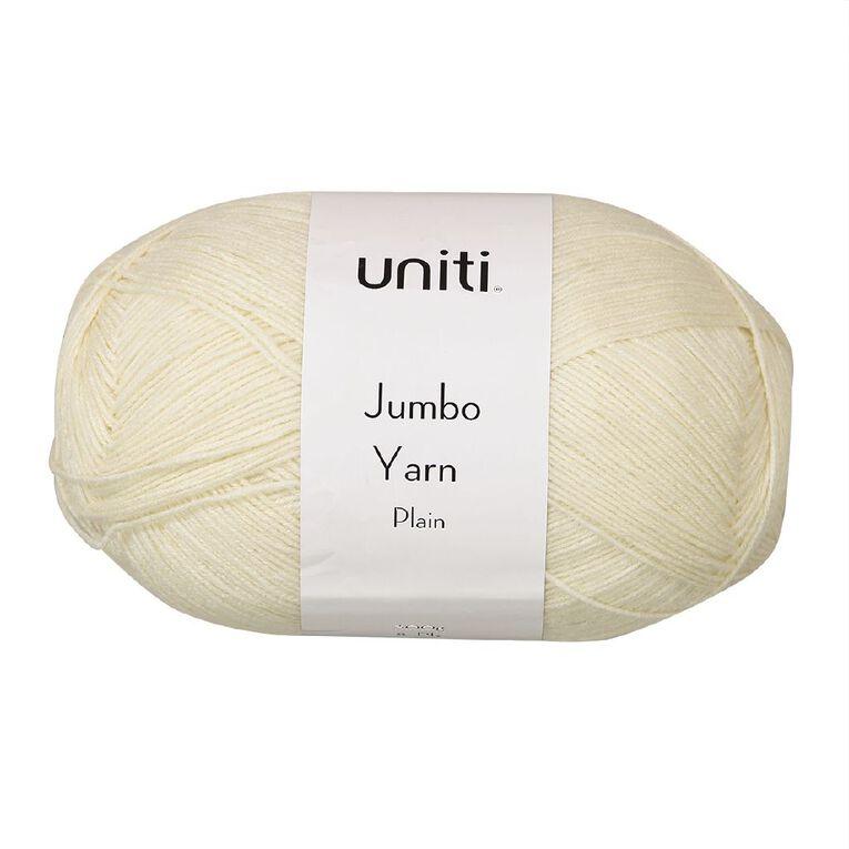 Uniti Yarn Jumbo 8 Ply Cream 300g, , hi-res