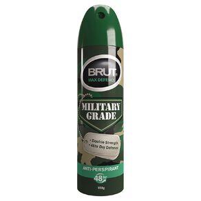 Brut Military Grade Antiperspirant Deodorant Max Deference 150g