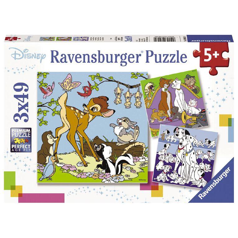 Ravensburger Disney Friends Puzzle 3x49 Piece Puzzle, , hi-res image number null