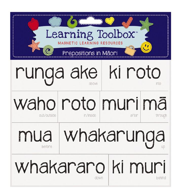 Learning Tool Box Magnetic NZ Maori Prepositions Assorted, , hi-res
