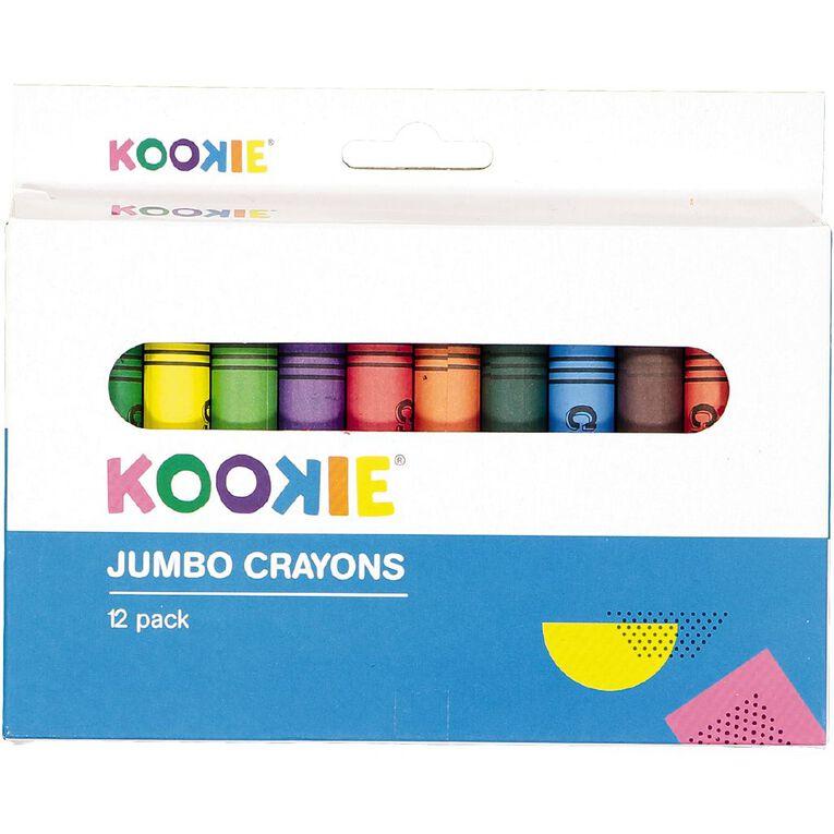 Kookie Jumbo Crayons 12 Pack, , hi-res