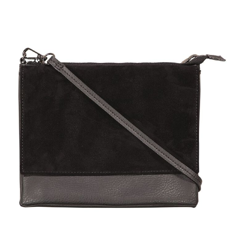 H&H Crossbody Top Zip Handbag, Black, hi-res
