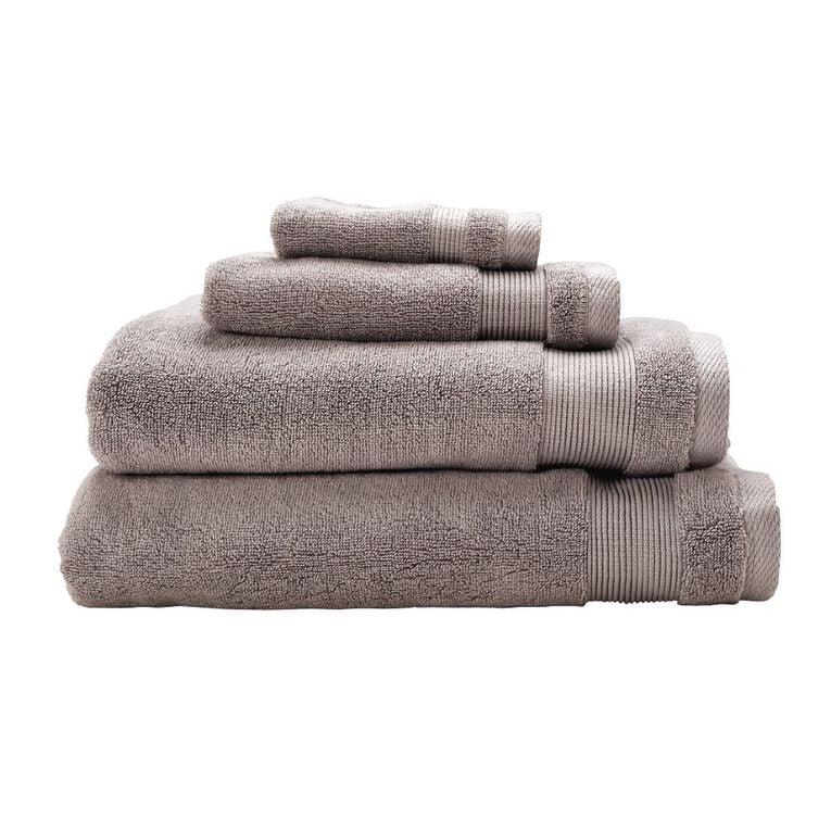 Living & Co Hotel Collection Spa Towel Grey Light 90cm x 150cm, Grey Light, hi-res