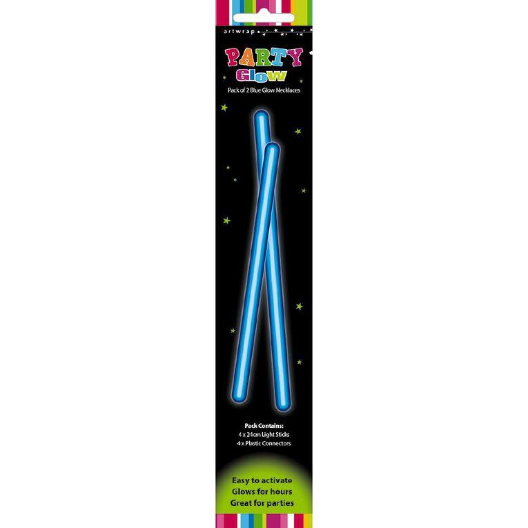Artwrap Glow Necklace 48cm Blue 2 Pack, , hi-res