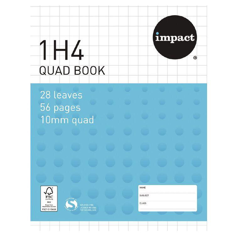 WS Exercise Book 1H4 10mm Quad 28 Leaf Blue, , hi-res
