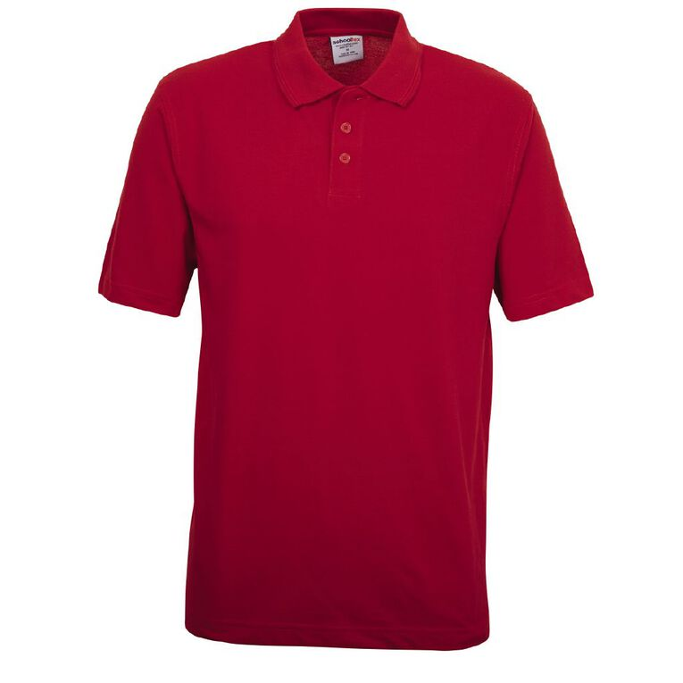 Schooltex Adults' Pique Polo, Red, hi-res