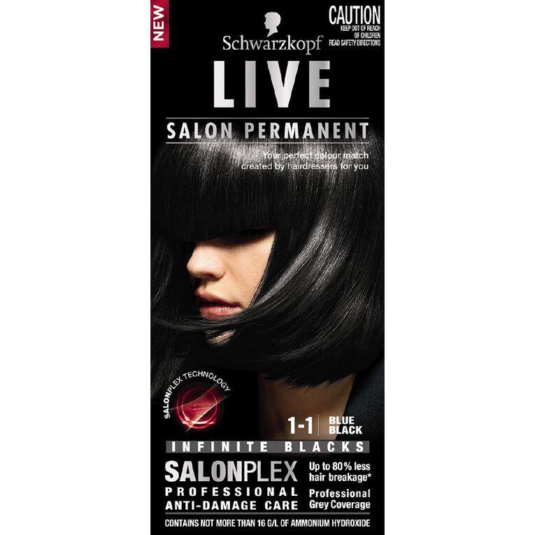 Schwarzkopf Live Salon Permanent 1-1 Blue Black, , hi-res