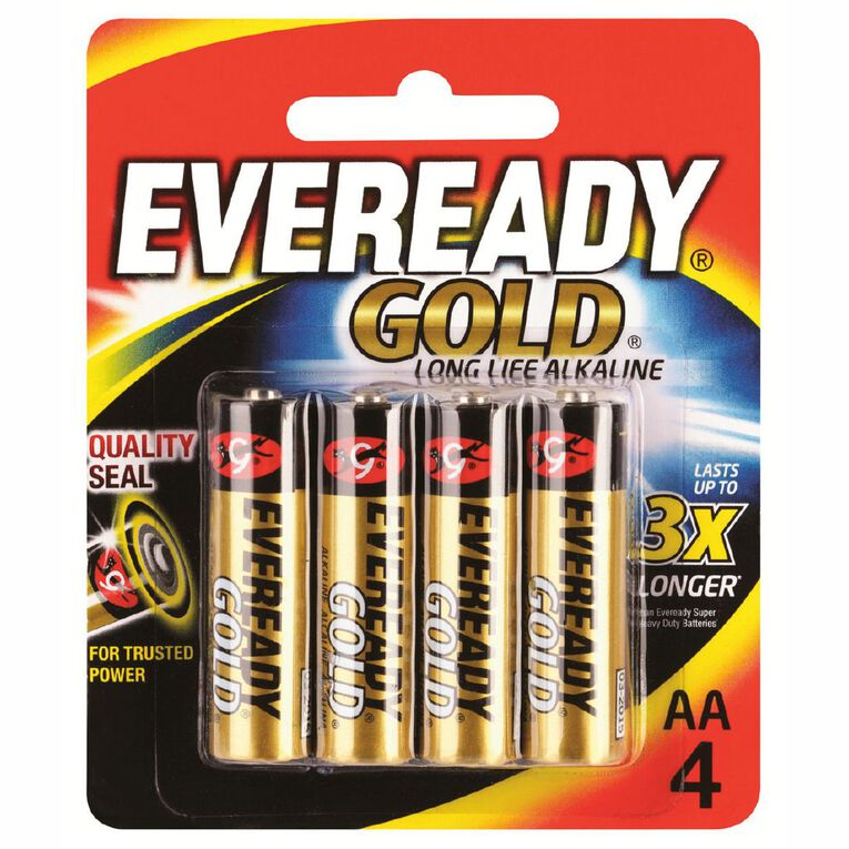 Eveready Gold Batteries  AA 4 Pack, , hi-res