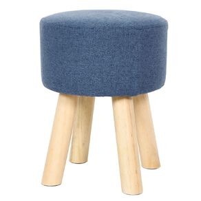 Living & Co Footstool Navy
