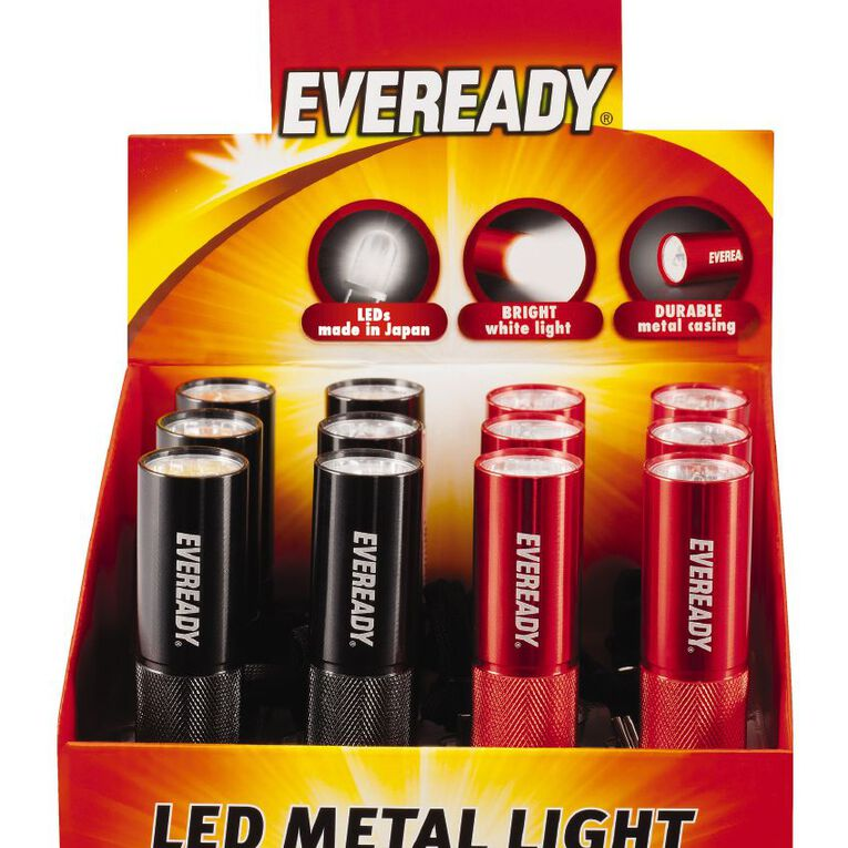 Eveready 3 LED Metal Torch, , hi-res