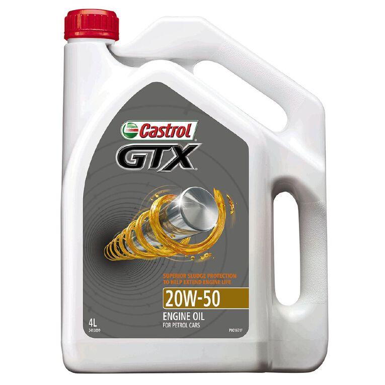 Castrol Oil GTX 20W-50 SN 4L, , hi-res