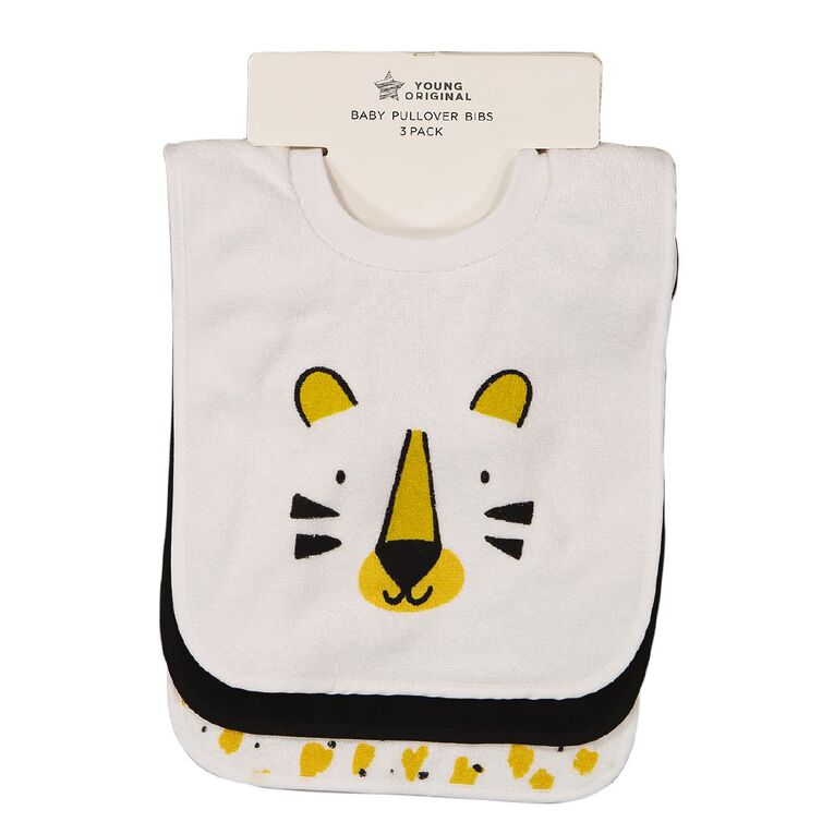Young Original Baby 3 Pack Bibs, Yellow Mid TIGER, hi-res image number null