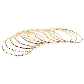 Basics Brand Textured Bangle Gold Set
