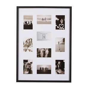 Living & Co Premium Collage Frame 10 Opening Black 4in x 6in