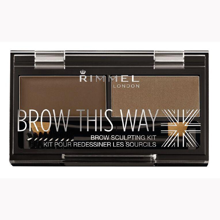 Rimmel Brow this Way Eyebrow Powder Kit Mid Brown, , hi-res