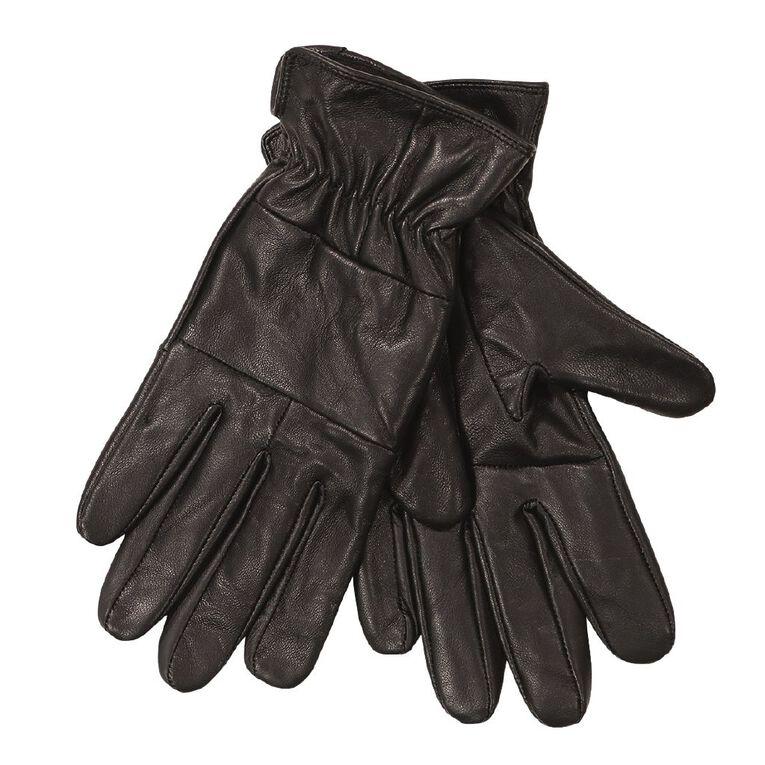 H&H Women's Leather Gloves, Black, hi-res