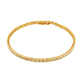 0.50 Carat Diamond 9ct Gold Bezel Tennis Bracelet